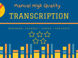 Transcribe 30 minutes of audio and do video transcription
