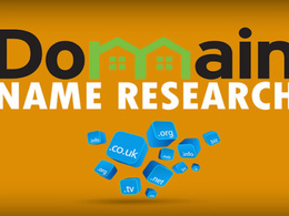 Research and suggest brand domain name with logo