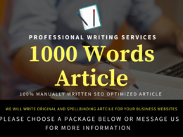Write a Spellbinding SEO Optimized Article 1000 Words