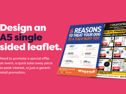 Design an A5 single sided leaflet