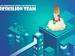 Build a custom website coded with python django