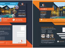Design professional real estate, corporate eddm postcard