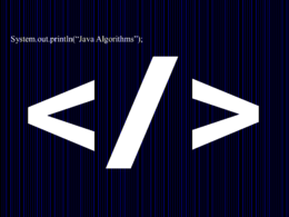 Write an algorithm to complete a particular task in java