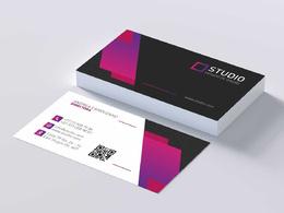 I will do minimalist, luxury, professional business card design