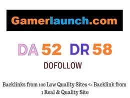 Guest Post on Gambling Website Gamerlaunch.com DA 52 DR 58