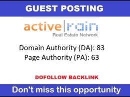 Publish Dofollow Guest Post on ActiveRain. Activerain.com - DA85