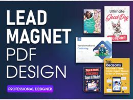 Design a professional PDF ebook design or lead magnet