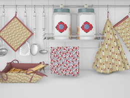 Design a seamless patterns for  home textile