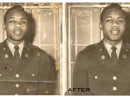 Restoration - Retouching  One Old Photo