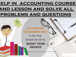 Complete problems and questions relating to accounting courses