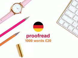 Proofread 1000 words - German text