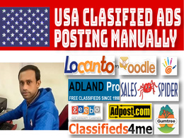 50 post your ads manually on top-ranked USA classified sites