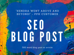 Write a 500 word SEO blog post or article