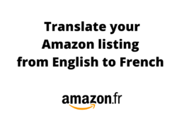 Translate your 10 listings into French for Amazon France