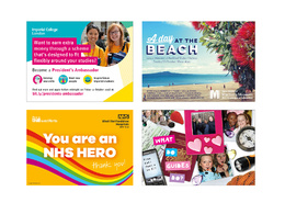 Design a fun and colourful postcard / leaflet / flyer