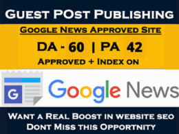 Guest Post on DA 60 Google News Website With Dofollow Backlink