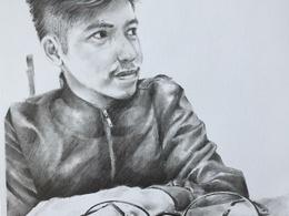 Draw your portrait into pencil sketch