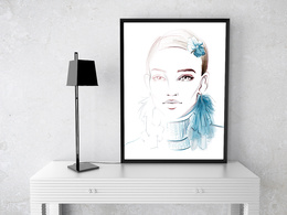 Draw a fashion illustration for you