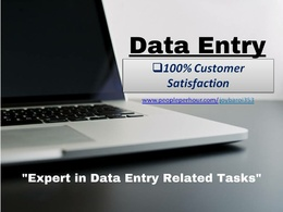 Do all type of high Quality Data Entry work for 3 hours