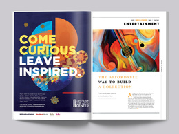 Design your magazine (cover and inside pages)