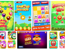 2d mobile game or app UI graphics design for ios, android & web