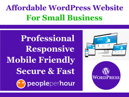 Build Professional WordPress Website for Small Business