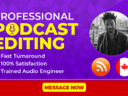 Edit up to 30 minutes of your podcast