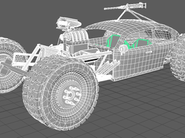 Create a game-ready 3D model of a vehicle