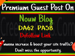 Write & Guest Post On Nouw Blog Da62 with dofollow Backlink