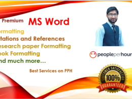 Do editing, formatting and redesigning of ms word document