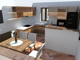 Draw a kitchen