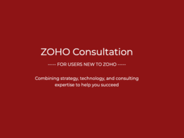 1 Hour Consultation on Zoho: New Users