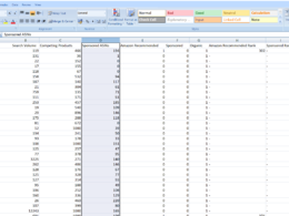 Amazon Keyword research excel report with volume for 1 product