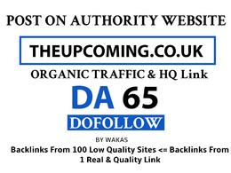 Post on Theupcoming  – Theupcoming.co.uk DA 65 Do Follow Link