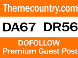 Publish Guest Post On Themecountry.com DA67 TF56 - DoFollow