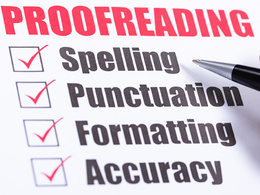 Proofreading and editing work for you up to 1000 words