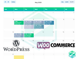 List Woocommerce Products in Full Calendar View