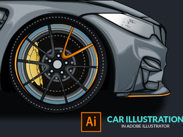 Draw Vector Car Illustratoin from Photo in 48 hours