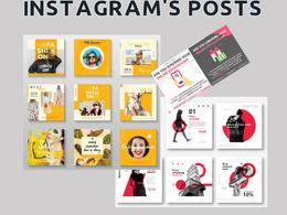 Design 15 Instagram posts for you
