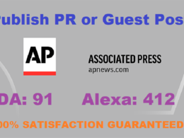 Publish Press Release or Guest Post On APnews.com  DA 91