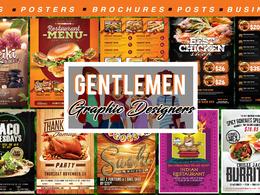 Create food or restaurant flyer or menu design professionally