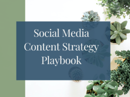 Create a social media content strategy playbook
