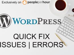 Get any wordpress issue fixed