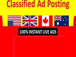 Publish your ad in 30 UK/USA/ CANADA/AUSTRALIA  ad posting sites