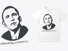 T-Shirt Obama Day June 14th TEXT Design