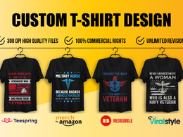 Do  t shirt design for teespring and amazon print on demand