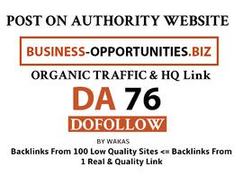 Post On Business-opportunities - Business-opportunities.biz