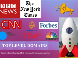 Backlinks from Forbes, Guardian, BBC, CNN and other TLD