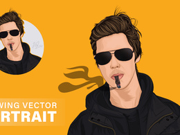 Draw realistic cartoon portrait illustration from your image