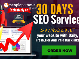 SEO Service for 30 days, daily, fresh and paid backlinks